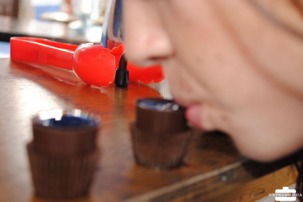 Portugal Óbidos Ginjinha no copo de chocolate