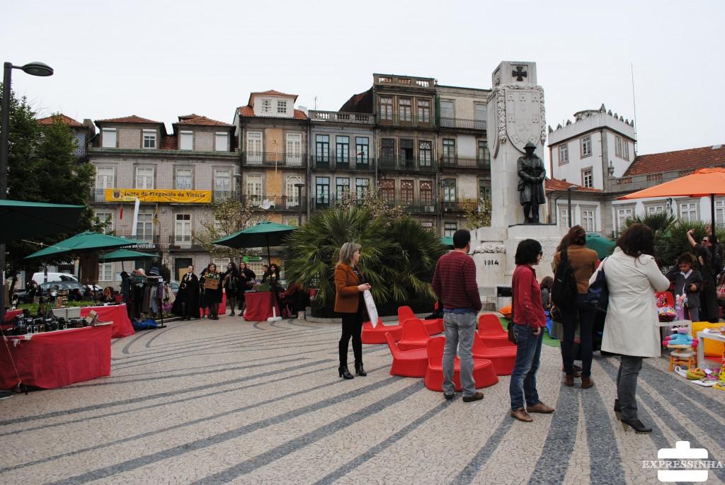 Portugal Porto Feira Praça Carlos Alberto
