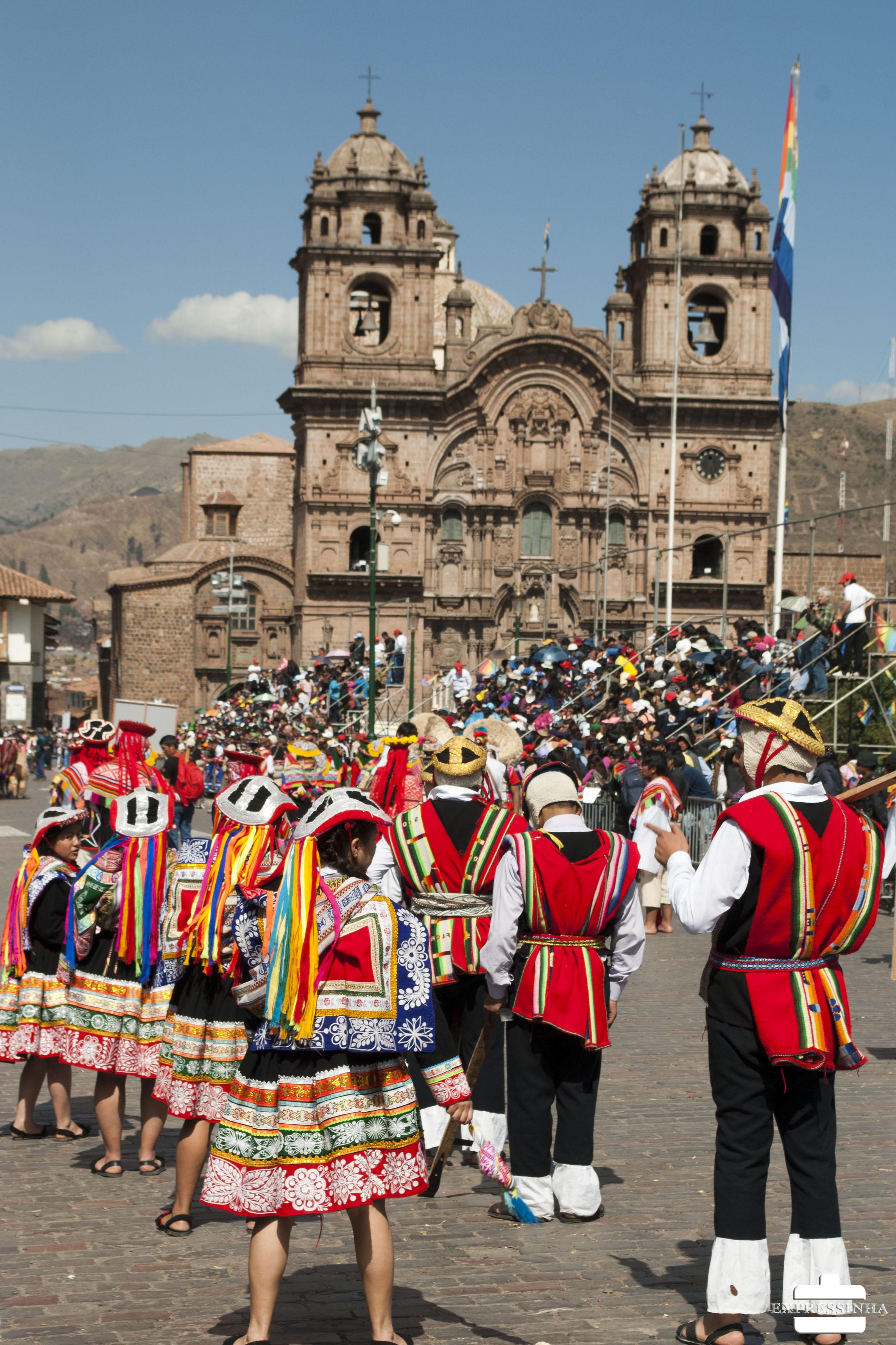 Peru Cusco Plaza de Armas inti Raimu