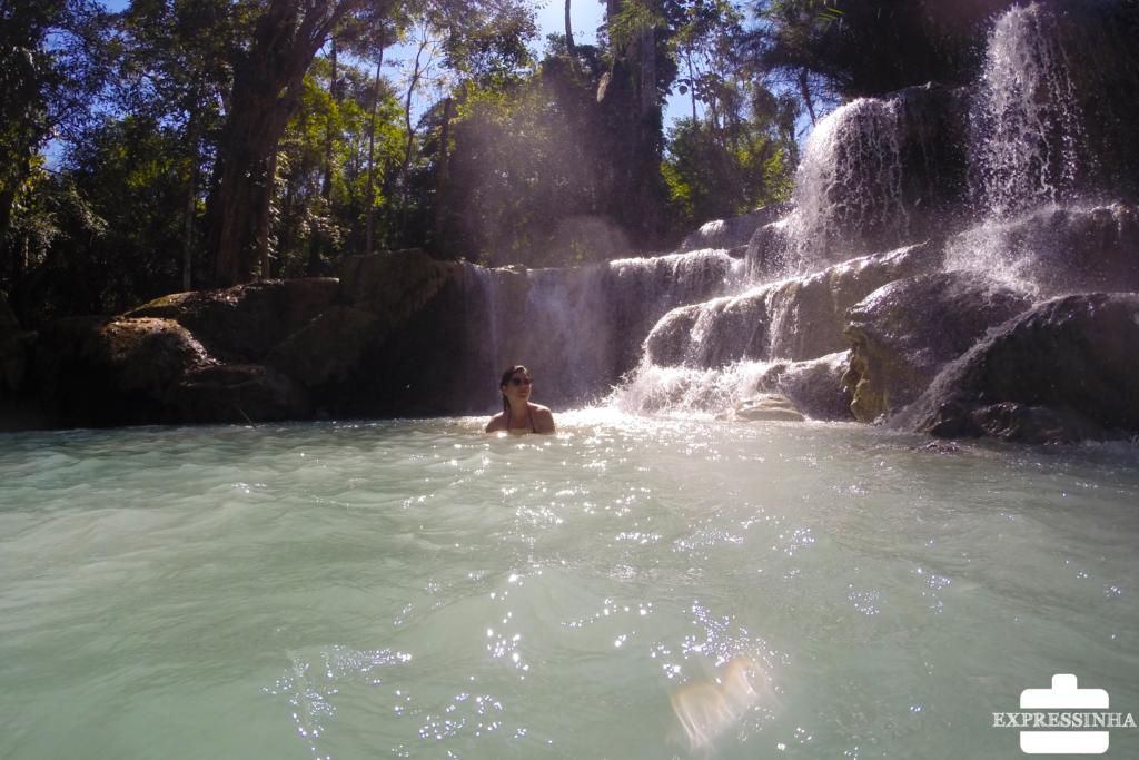 Asia Laos Kuang Si Waterfalls